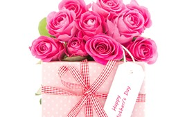 Preview wallpaper Some pink roses, gift, romantic