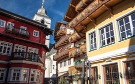 Aperçu fond d'écran St. Wolfgang, ville de marché, Autriche