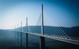 Viaduct bridge, height, morning