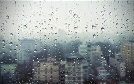 Preview wallpaper Window, glass, rain, water droplets