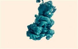 미리보기 배경 화면 푸른 연기, 추상, 흰색 배경