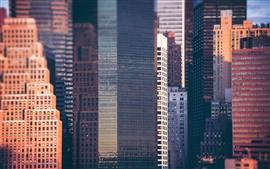 미리보기 배경 화면 도시, 고층 빌딩