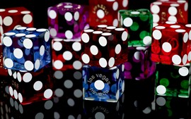 Preview wallpaper Colorful game dice