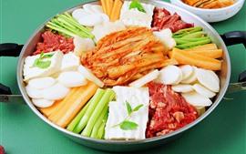 壁紙のプレビュー 野菜と肉の切り身