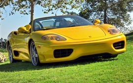 Preview wallpaper Ferrari 360 yellow convertible