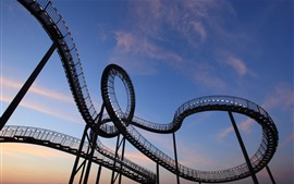Germany, Duisburg, roller coaster