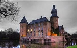 Preview wallpaper Germany, castle, lake, dusk