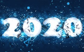 Preview wallpaper Happy New Year 2020, stars, creative picture