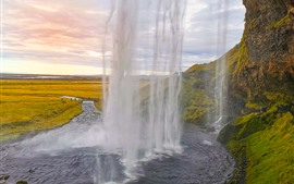 Preview wallpaper Iceland, waterfall, river