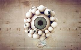 Много глаз, креативная картинка