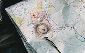 미리보기 배경 화면 지도와 나침반