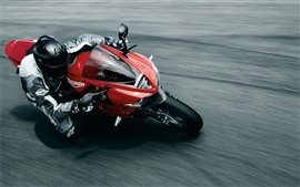 Preview wallpaper Motorcycle, speed, sport, road