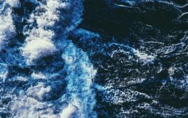 미리보기 배경 화면 바다 파도, 거품, 물, 튀김