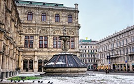 Вена, Австрия, город, улица, статуя