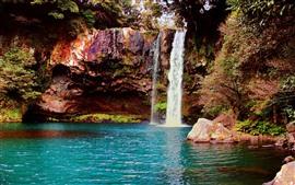 滝、岩、水