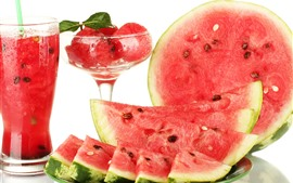 Preview wallpaper Watermelon, juice, summer fruit