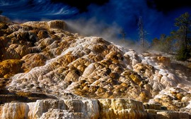 Preview wallpaper Yellowstone National Park, stones, nature scenery