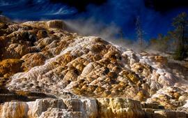 Aperçu fond d'écran Parc national de Yellowstone, pierres, paysages naturels