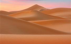 미리보기 배경 화면 사막, 모래 언덕, 자연 풍경