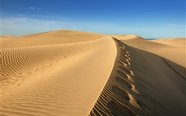 Preview wallpaper Desert, sand, blue sky