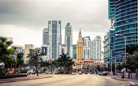 Preview wallpaper Florida, Miami, city, skyscrapers, USA