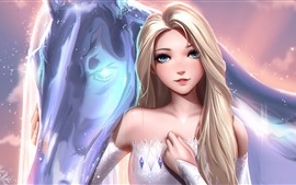 Preview wallpaper Frozen 2, Elsa, art picture