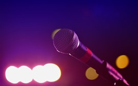 Microphone, cercle lumineux