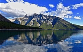 Природа пейзаж, горы, озеро, вода отражение