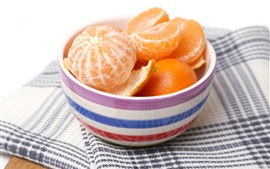 One bowl of tangerines, fruit