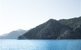 壁紙のプレビュー 海、山、島