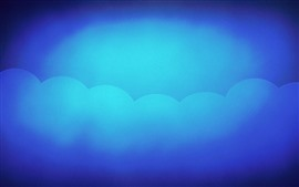 Preview wallpaper Abstract background, blue sky, clouds