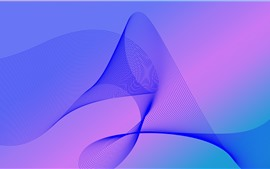 Preview wallpaper Abstract wave lines, purple background