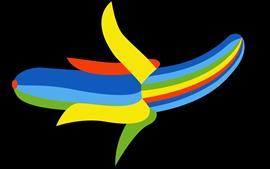 Aperçu fond d'écran Banane, image créative colorée