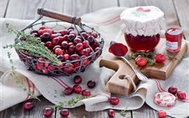 Bagas, cranberries, geléia