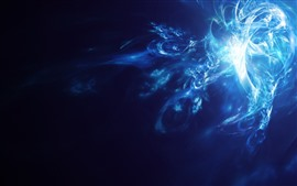 Preview wallpaper Blue background, abstract smoke