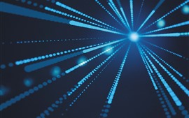 Preview wallpaper Blue light rays, abstract