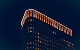 Preview wallpaper Buildings, lights, night, darkness
