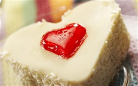 Preview wallpaper Cake, love heart, cream, dessert