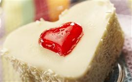 Торт, любовь сердца, крем, десерт