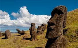 Aperçu fond d'écran Île de Pâques, Moai Statue, Chili