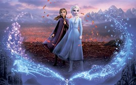 Preview wallpaper Frozen 2, Disney movie, sisters
