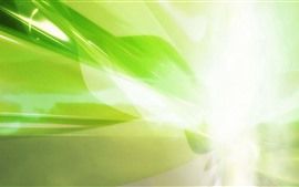 Green style, glare light rays, abstract picture