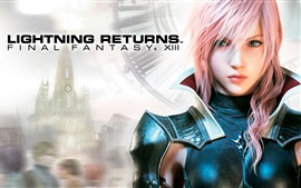 Lightning Returns: Final Fantasy XIII, hermosa niña de cabello rosado