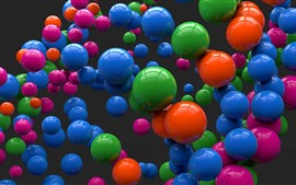 Many colorful 3D balls