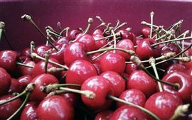 Aperçu fond d'écran Beaucoup de délicieuses cerises, fruits