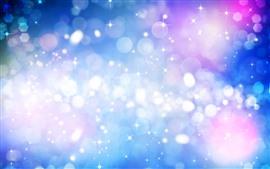 Estrellas, círculos de luz, resplandor, colorido, abstracto
