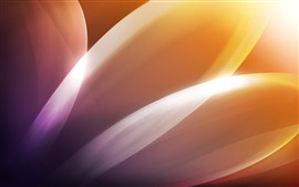 Preview wallpaper Abstract orange flower petals, glare