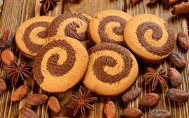 Comida, galletas, nueces