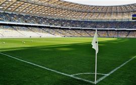 Футбольное поле, зеленый луг