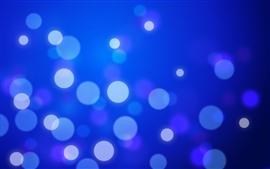 Light circles, blue background